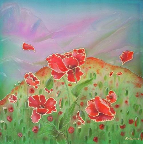 Батик. Цветы (54 работ)
