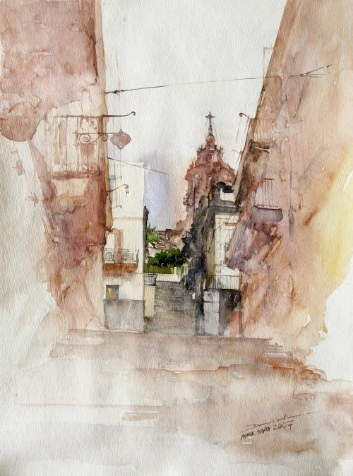 Акварельная архитектура Minh Dam - Минь Дам (76 работ)