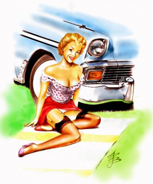 История Pin-Up. Paul John Ballard (24 работ)