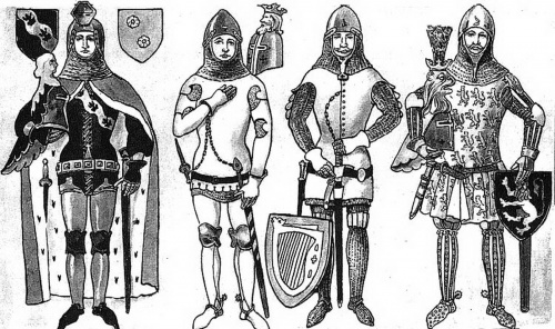 История костюма: Рыцари (17 работ)