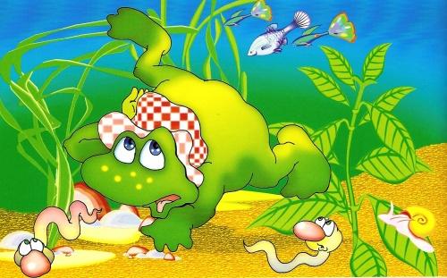 Иллюстрации к сказкам О.Б.Гороховой. Лягушка-путешественница (14 работ)