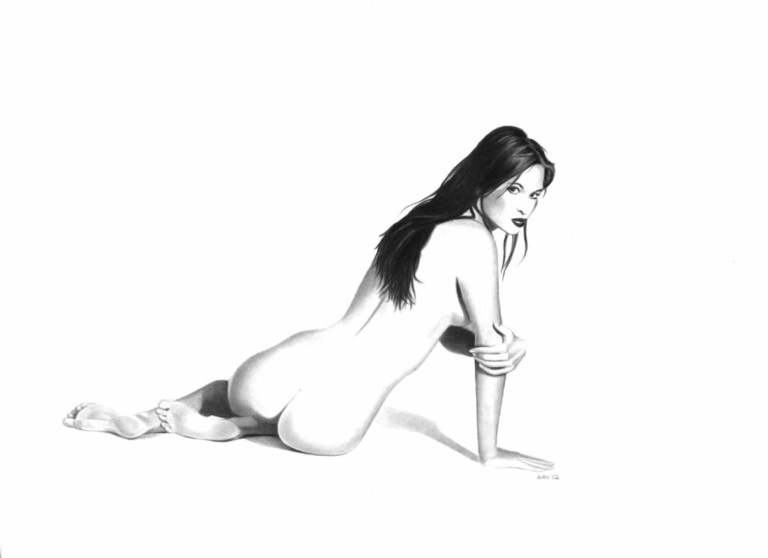 Эротика карандашом девушки 7 фотография