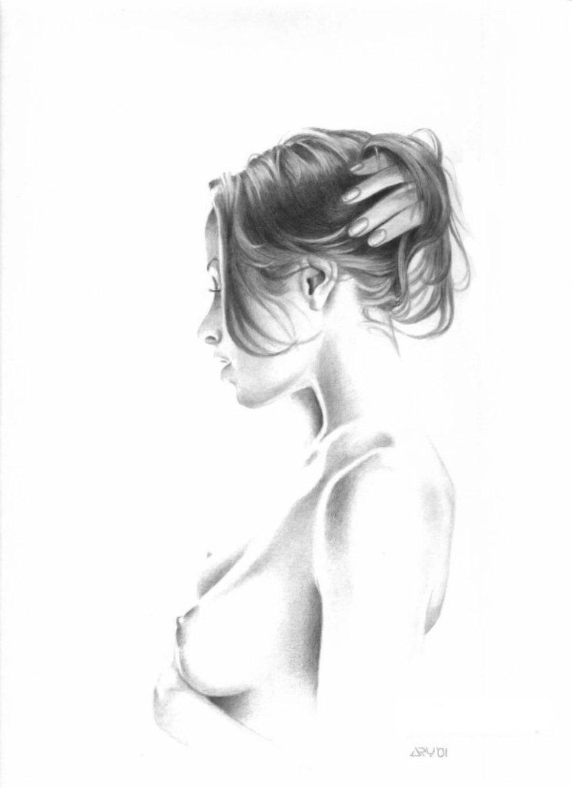 Рисунки девушки эротика карандашом 9 фотография