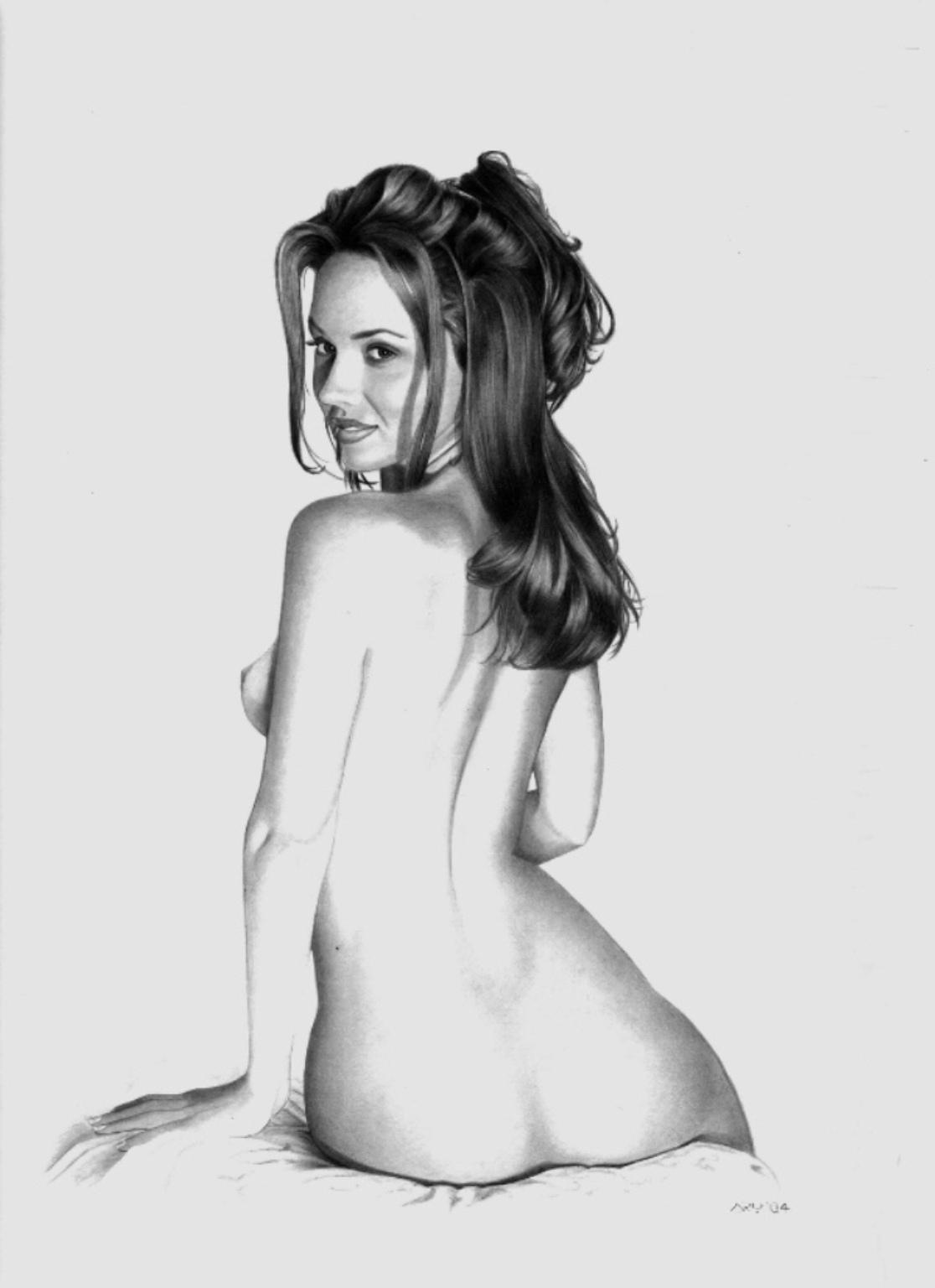 Рисуем голую девушку картинки 13 фотография