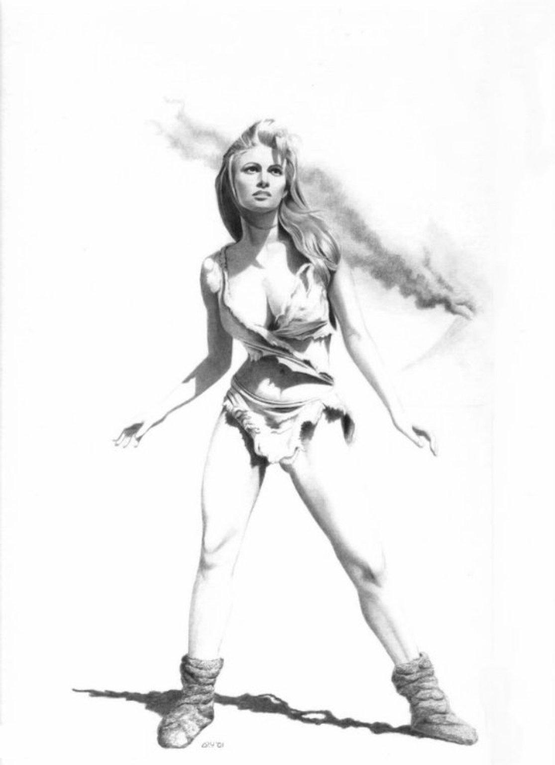 Ретро рисованные голые девушки 20 фотография