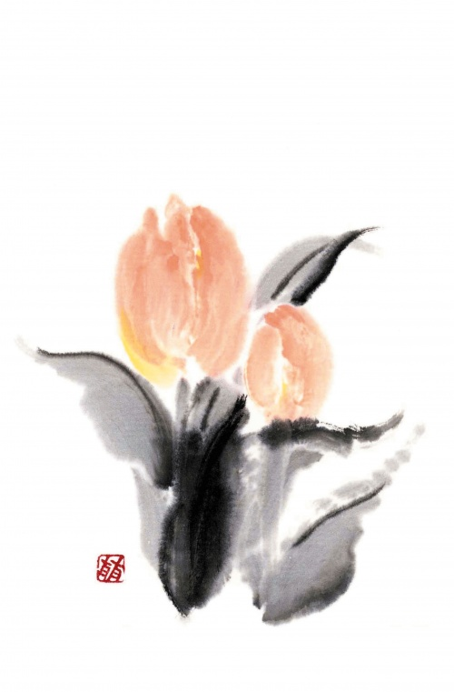 Японские акварели. Коллекция цветов от Рицуо Сугияма (42 работ) (2 часть)