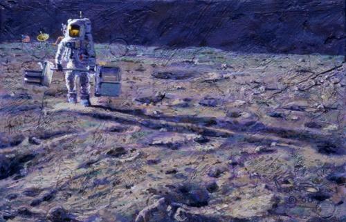 Алан Бин / Alan Bean - Космическая живопись (196 работ)