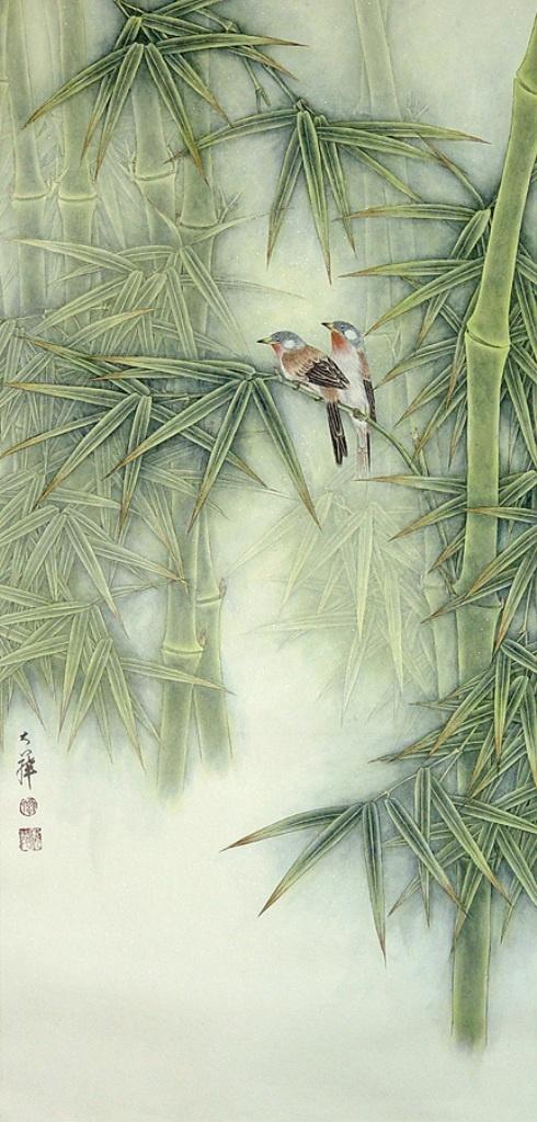 Птицы и цветы (Lou Dahua,китайская живопись) (19 работ)