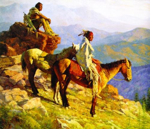 Howard Terpning - Индейцы северной Америки (45 работ) (1 часть)