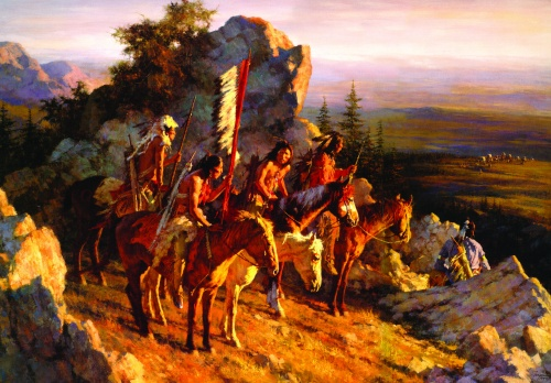 Howard Terpning - Индейцы северной Америки (37 работ) (2 часть)