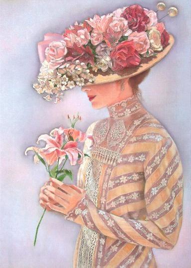 Прекрасные дамы от Sue Halstenberg (34 работ)