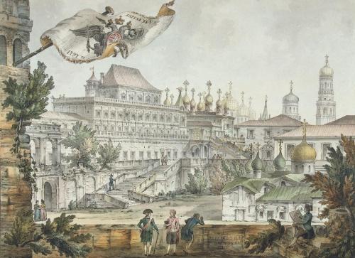 Акварели архитектора Джакомо Кваренги (1744-1817) (35 работ)