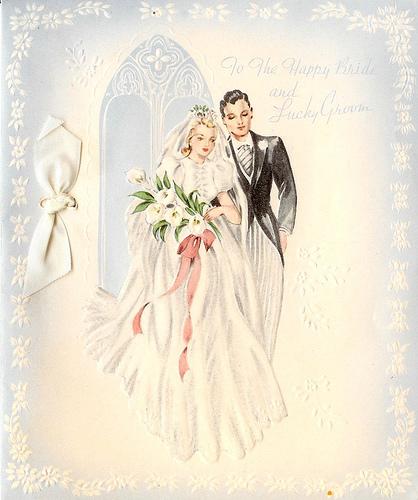 Винтажные открытки для свадьбы 890