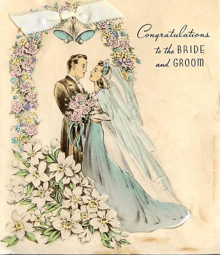 Винтажные открытки для свадьбы 592