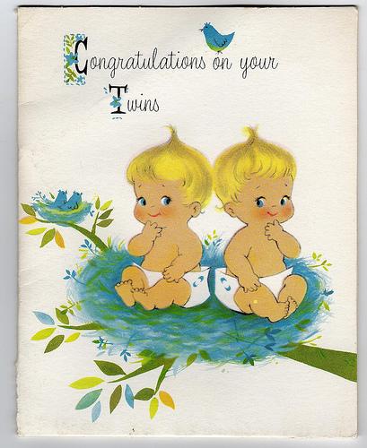 Открытка близняшкам на день рождения 73