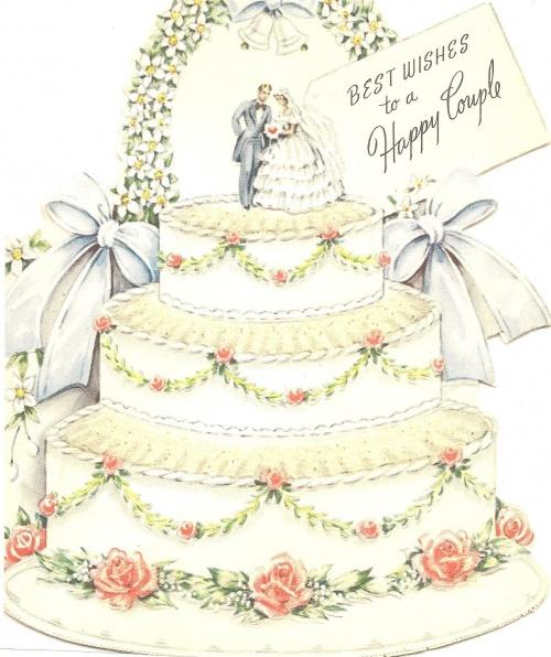 Винтажные открытки для свадьбы 116
