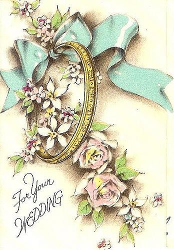 Винтажные открытки для свадьбы 82
