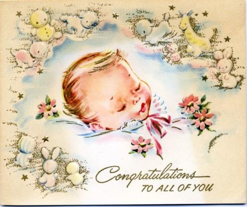 """Винтажные открытки """"С новорожденным"""" (138 работ)"""