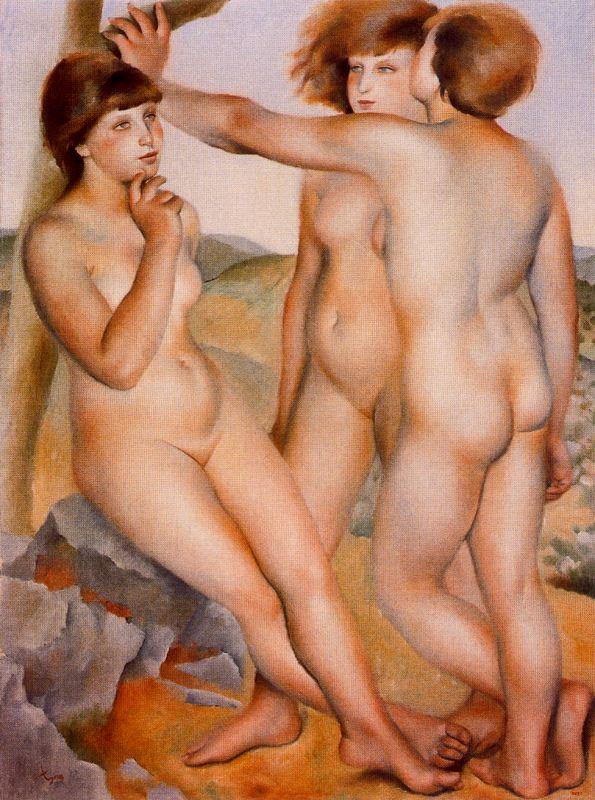 мальчик и обнаженная женщина