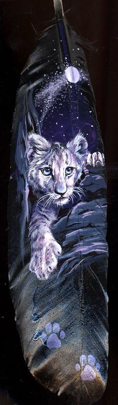 Рисунки на перьях Heather Schumacher (18 работ)