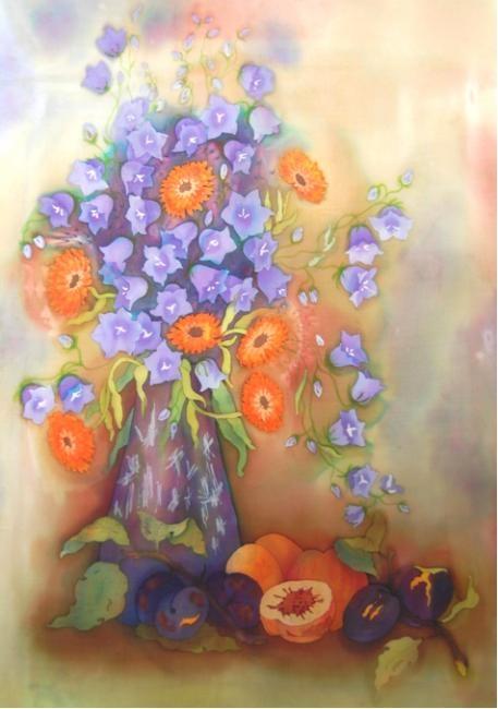 Батик. Цветы (3 часть) (66 работ)