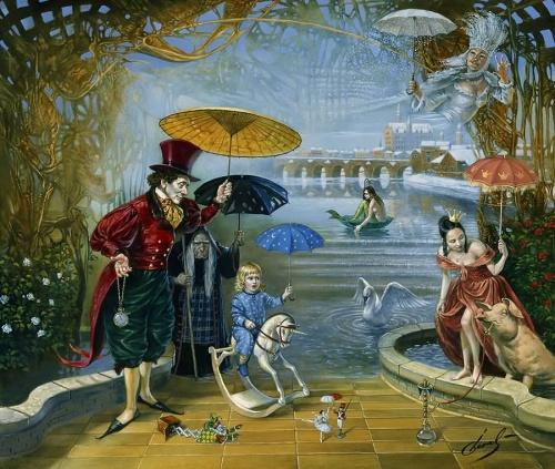 Русский сюрреалист Michael Cheval (Михаил Хохлачев) (55 работ)