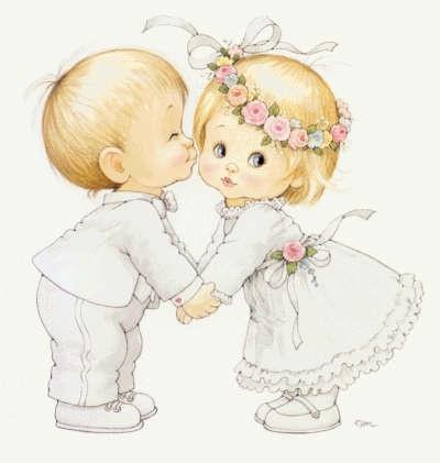 Открытка мальчик и девочка