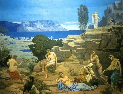 Французский художник Pierre Cecile Puvis de Chavannes (64 работ)