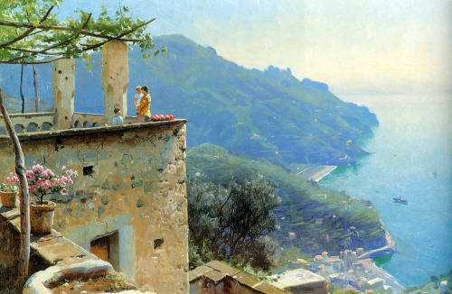 Peder Mork Monsted (1859-1941) (57 работ)