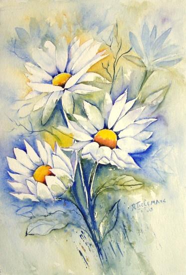 Акварельные натюрморты Rita Tielemans  (74 работ)
