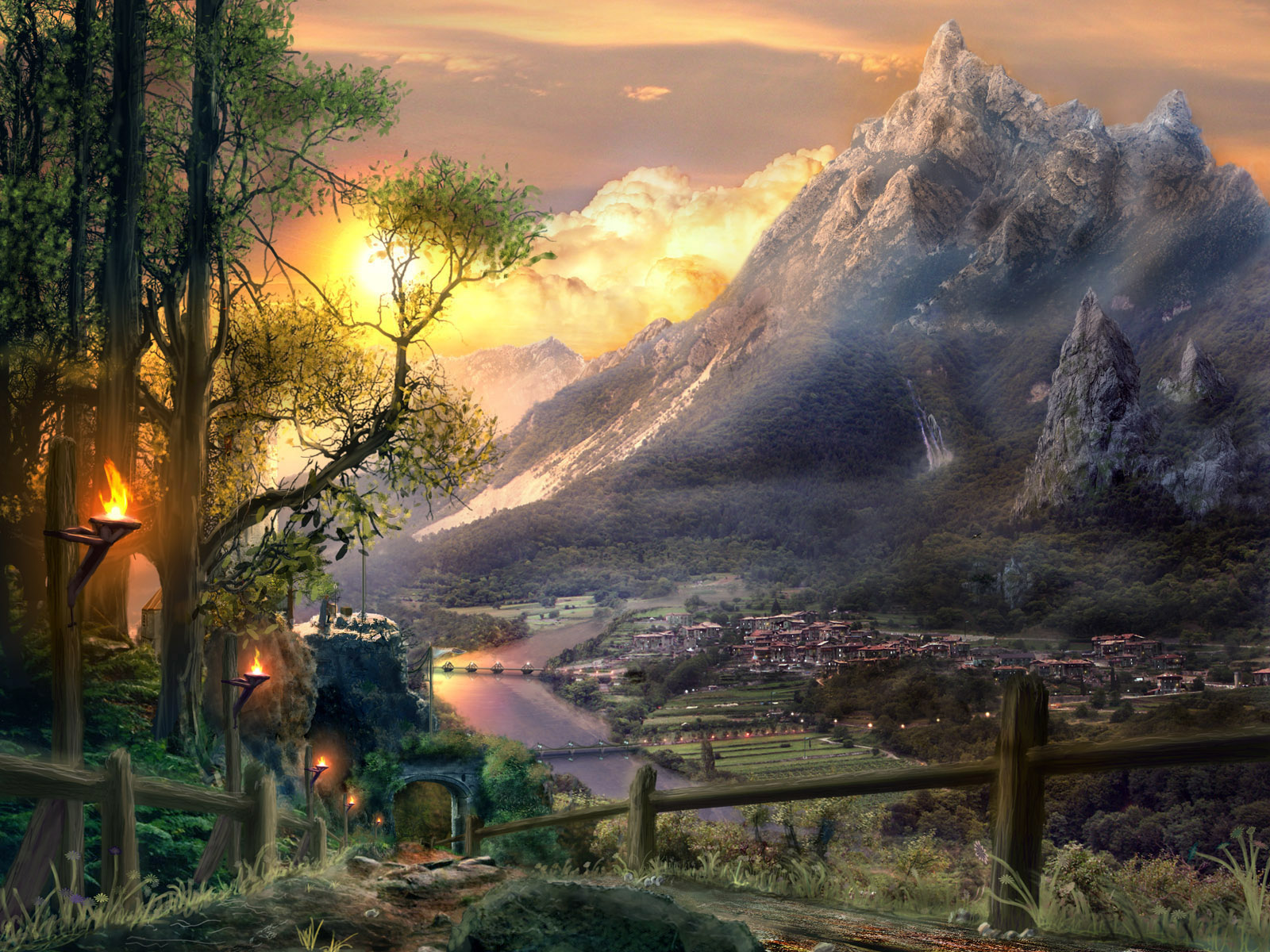 Фантастические сказочные миры картинки