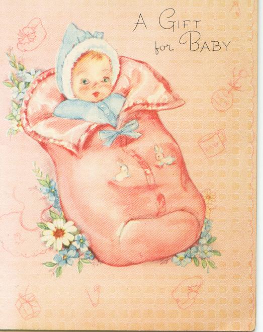 Новорожденный малыш открытка 995