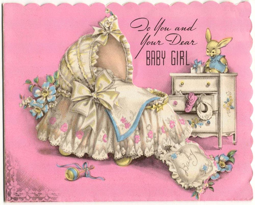 подвешивают винтажные открытки с рождением дочери необходим