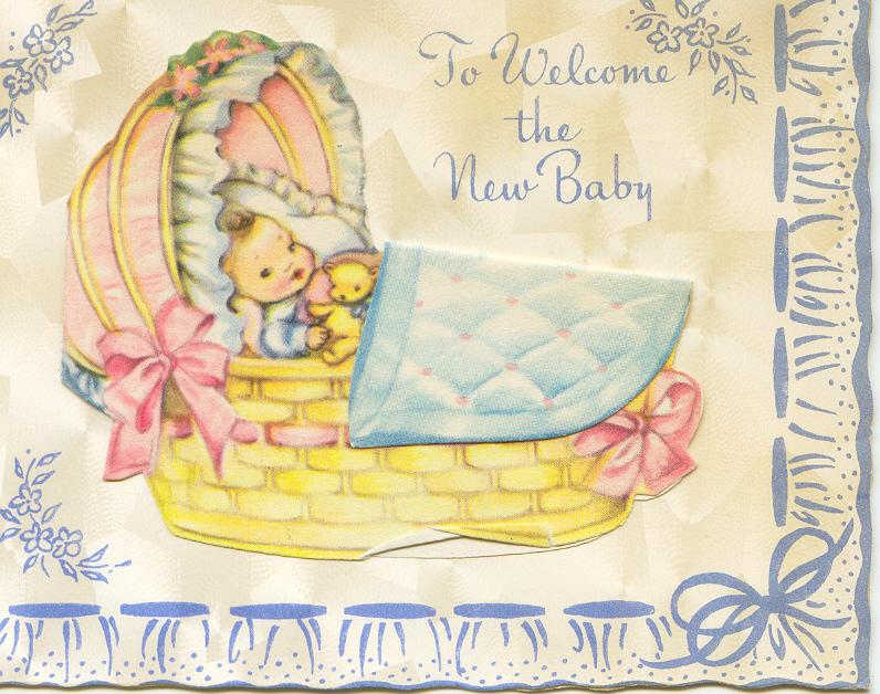 Открытка с новорожденной дети 382