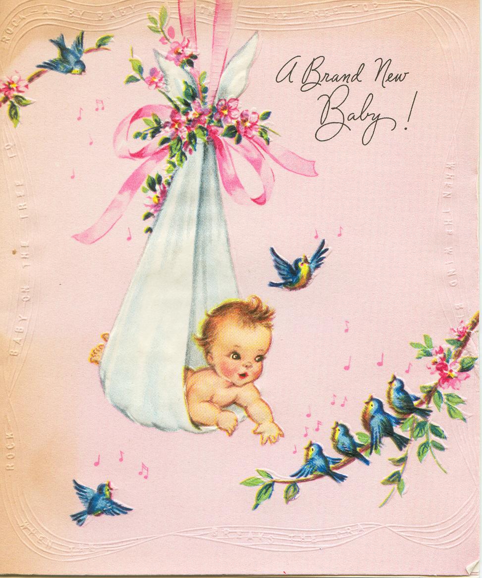 винтажные открытки с рождением дочери идея авторов программы