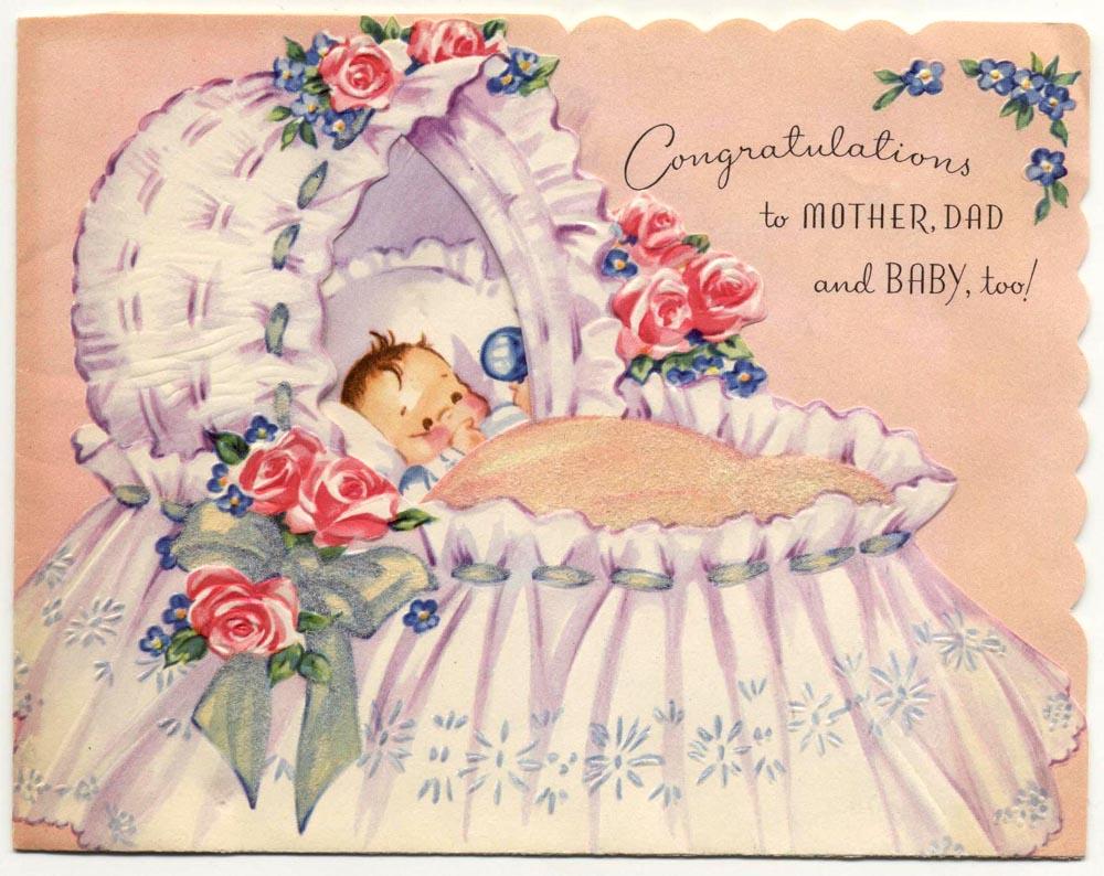винтажные открытки с рождением дочери свою сознательную