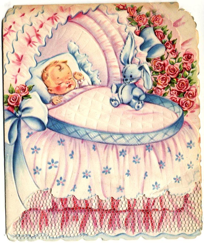Флеш открытка для новорожденного