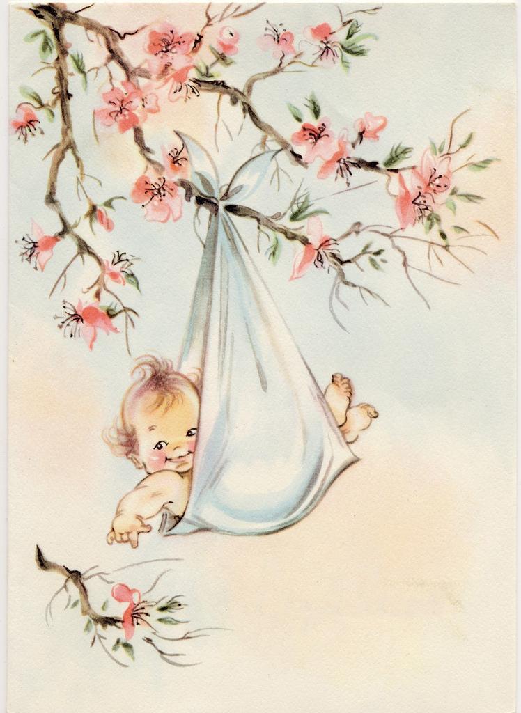 Старинные открытки с младенцами