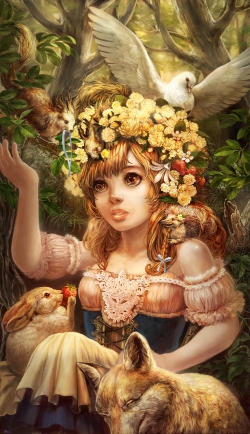 Цифровой художник Umedama Riko (13 работ)