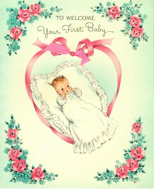 Открытка с новорожденной дети 830