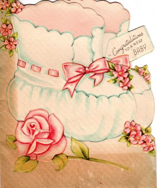 """Винтажные открытки """"С новорожденным"""" (часть II) (160 открыток)"""