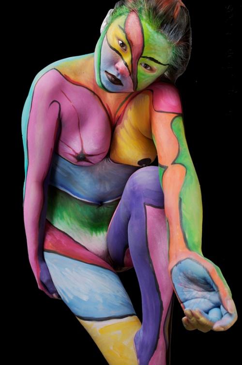 Боди-арт - весёлый и грустный, смешной и пугающий (330 фото) (эротика)