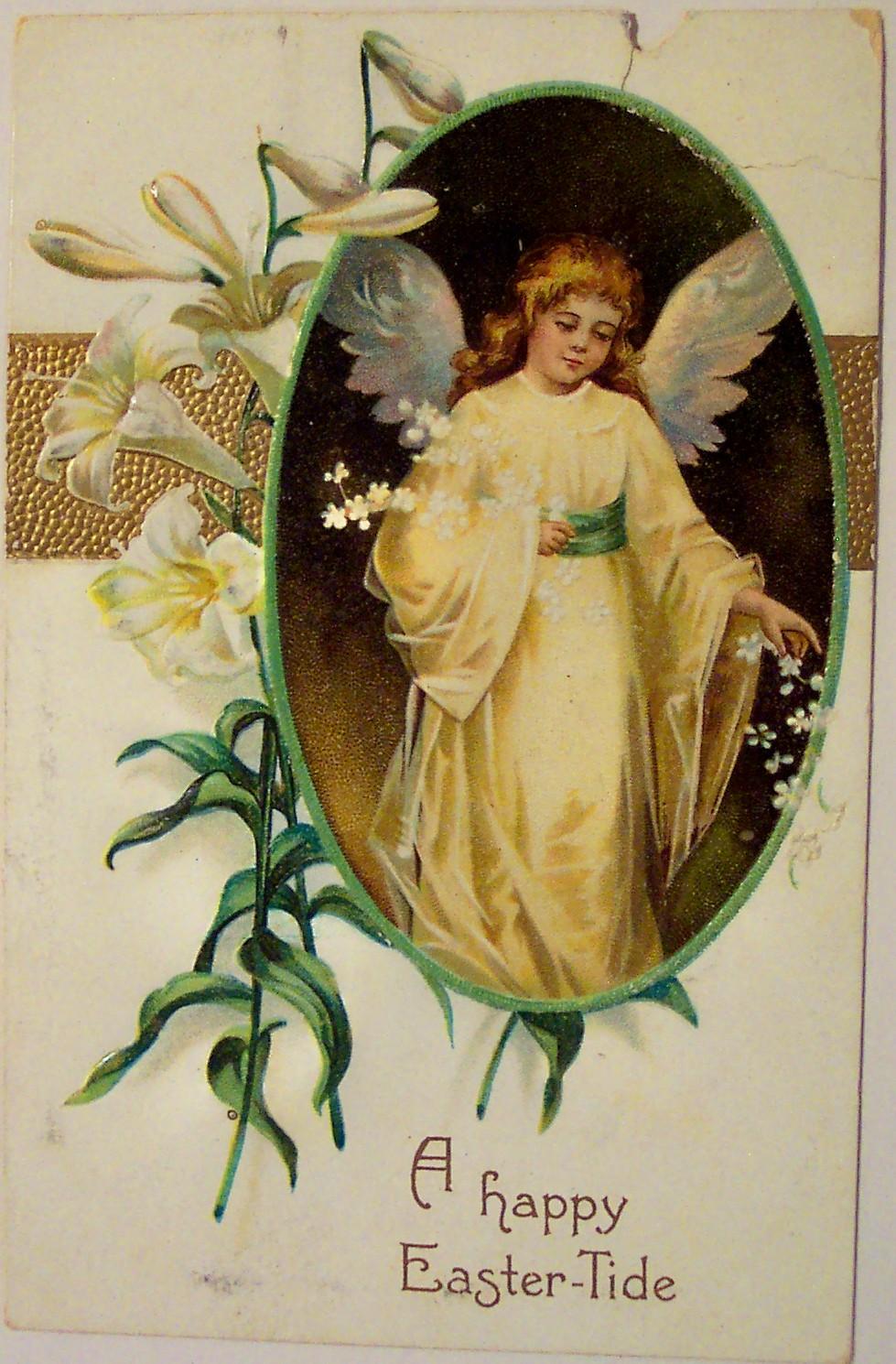 Винтажные открытки с днём ангела