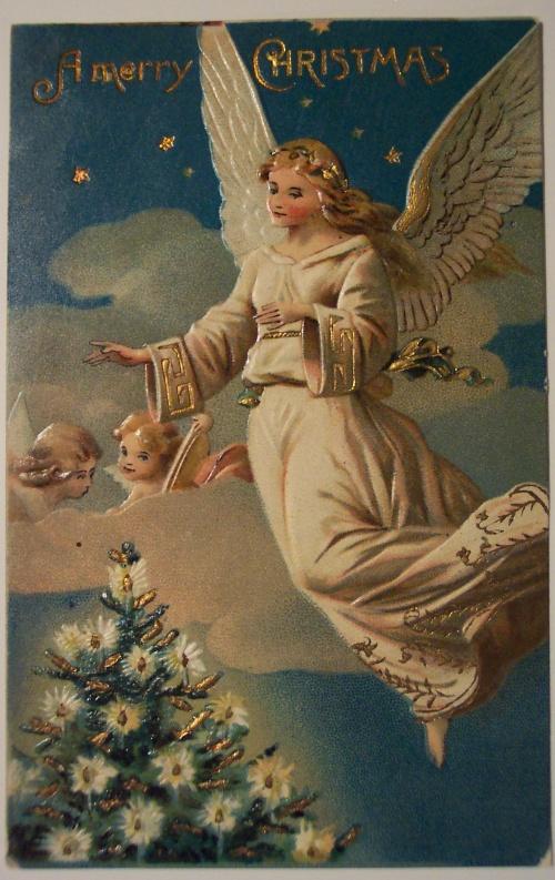 Старинные открытки с нем ангела 624