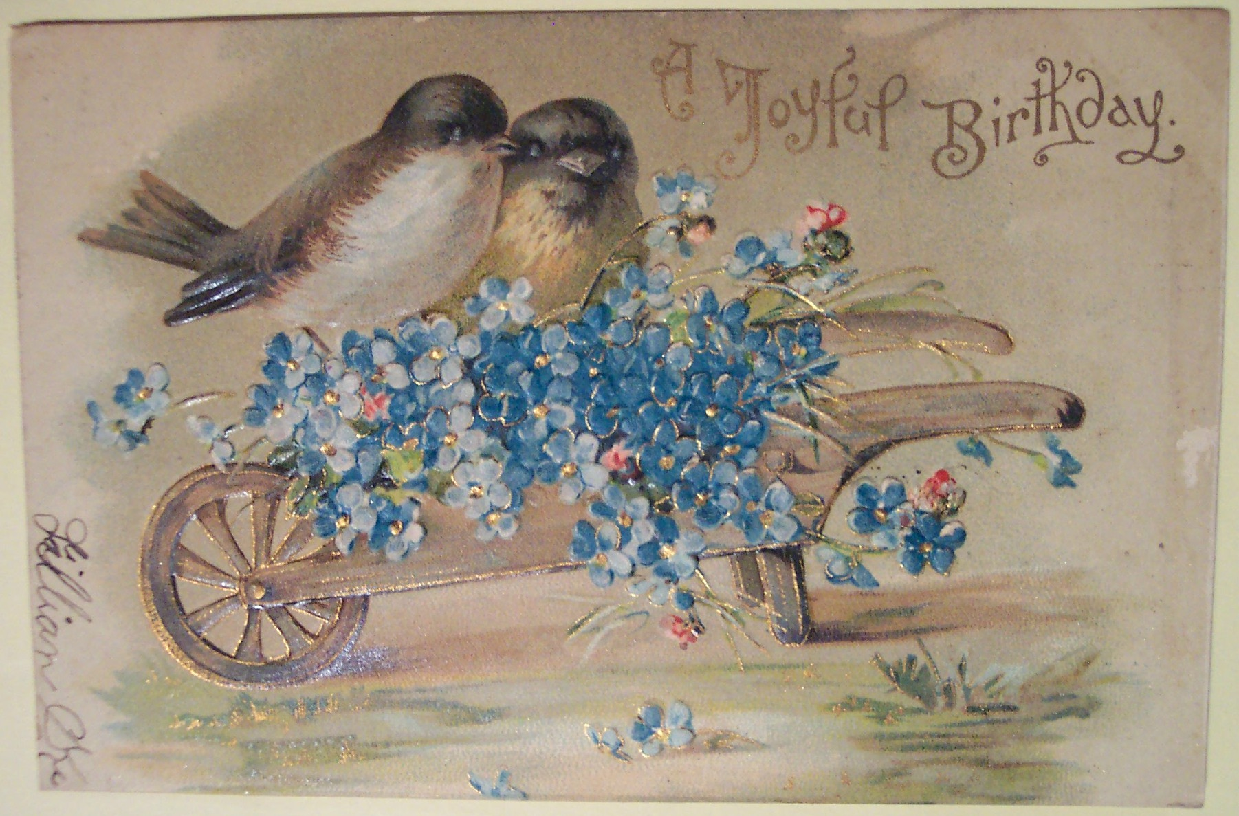 Почтовые романтические открытки