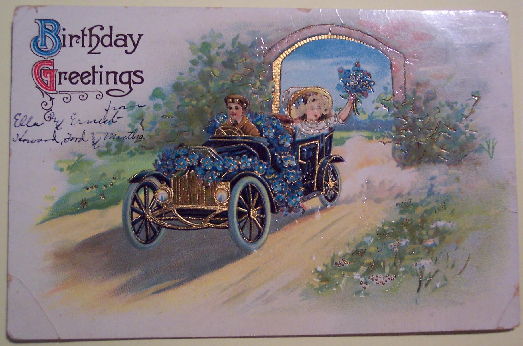 День рождения старинные открытки мужчине