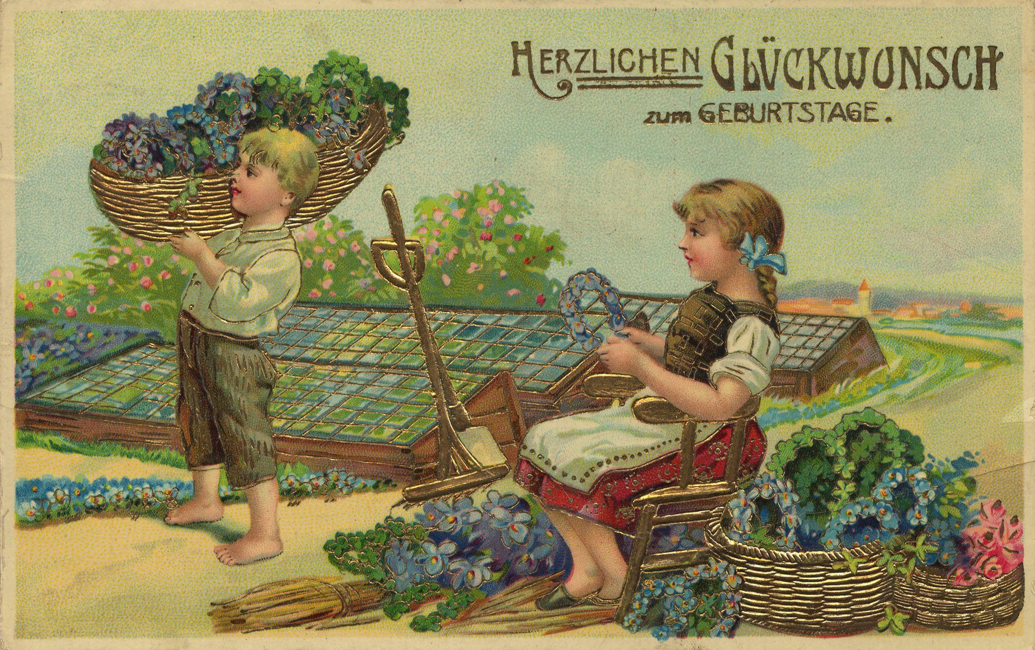 Поздравляем немецкие открытки