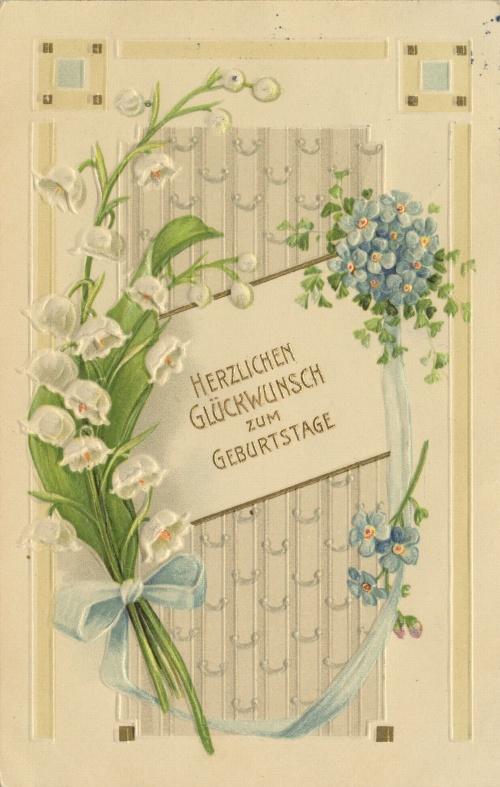 Старые европейские открытки с ландышами (25 открыток)
