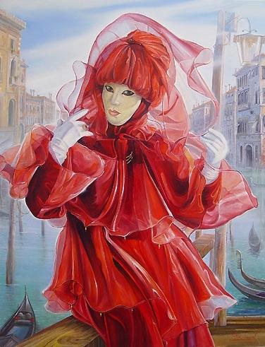 Художник Алекс Левин (Alex Levin). Venetian Fantasy (36 работ)