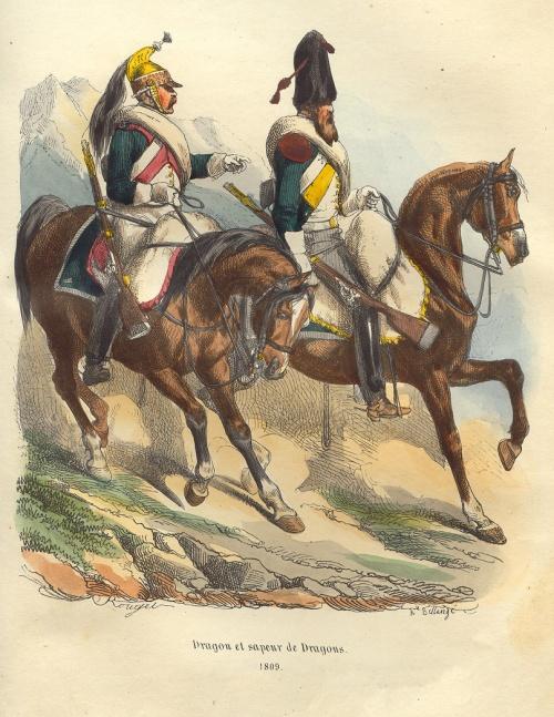 Французская армия от Революции до Первой Империи. Серия гравюр (45 работ)